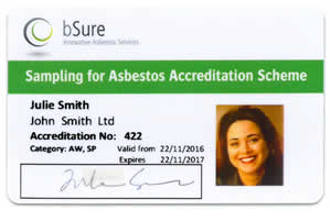 bSure Accreditation Card